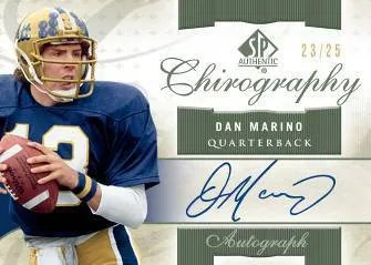 2010 Upper Deck UD SP Authentic Dan Marino Chrography Autograph Card