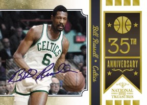 09/10 Panini National Treasures 35th Anniversary Team Bill Russell Auto