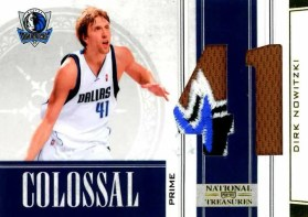 2009/10 Panini National Treasures Dirk Nowitzki Prime Jersey Card