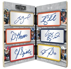 2010 Topps Unrivaled Six Sigs Autograph NFL Draft Pick Book Card