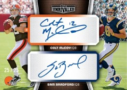 2010 Topps Unrivaled Colt McCoy Sam Bradford Dual Autograph RC Card