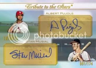 2011 Topps Tribute Albert Pujols/Stan Musial Dual Auto Stars