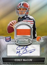 2010 Bowman Sterling Colt McCoy Autograph Patch RC Card