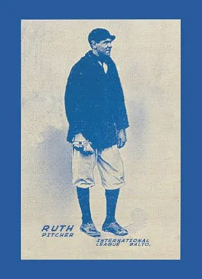 2011 Topps Series 1 Babe Ruth Reproduction Card
