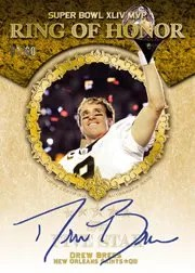 2010 Topps Five Star Drew Brees Ring of Honor Autograph