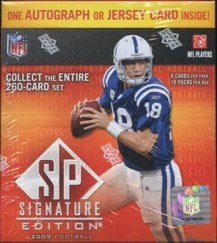 2009 Upper Deck UD Signature Football Retail Box