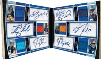 2010 Topps Triple Threads Double Combo Six Jersey Auto Book Card