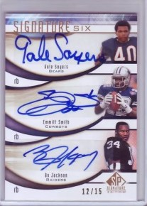2009 Sp Signature Six Autograph Football Card