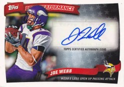 2010 Topps Peak Performance Joe Webb Autograph