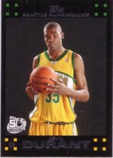 2007/08 Topps Kevin Durant Rookie RC