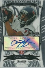 2009 Bowman Sterling Arian Foster RC Rookie Card