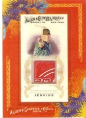 2010 Topps Allen & Ginter Baseball Avery Jenkins Framed Disc Golf Relic Card