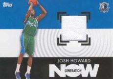 2007/08 Topps Generation Now Josh Howard Jersey