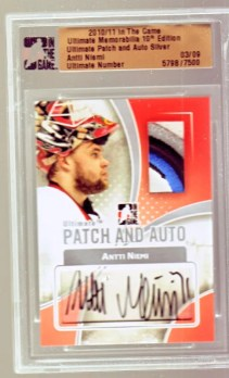 10/11 ITG Patch and Auto Antti Niemi