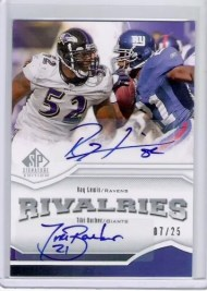 2009 UD Sp Signature Rivalries Ray Lewis/Tiki Barber