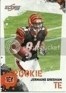 2010 Score Jermaine Gresham Rookie RC Card