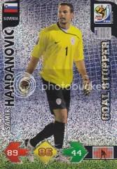 2010 Panini Adrenalyn XL Goal Stopper Samir Handanovic