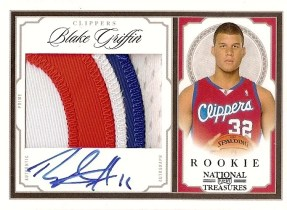 2009/10 Panini National Treasures Blake Griffin Patch Autograph Rookie Card