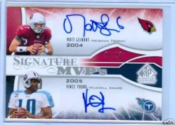 2009 Upper Deck Sp Signature MVP's Dual Young/Leinart