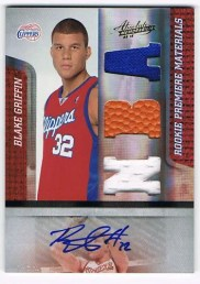 2009/1 Panini Absolute Blake Griffin RPM Auto/Jersey Ball
