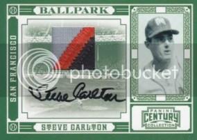 2010 Panini Century Steve Carlton Ballpark Autograph