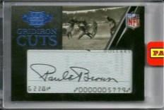 2010 Panini Plates Patches Paul Brown Cut Autograph