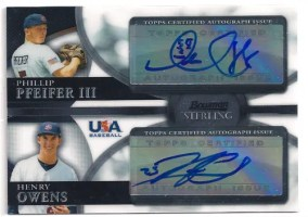2010 Bowman Sterling Phillip Pfeifer/Henry Owens Dual Auto