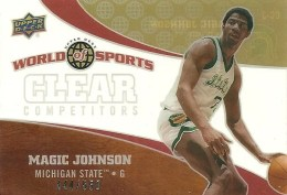 2010 UD World of Sports Magic Johnson Clear Competitors
