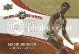2010 UD World of Sports Magic Johnson Clear Competitors