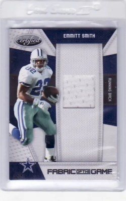 2010 Panini Certified Football Emmitt Smith Jersey Card