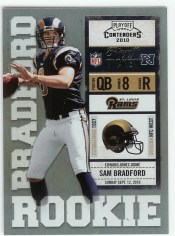 2010 Playoff Contenders Sam Bradford No Autograph RC Ticket #/99 Parallel