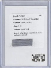2010 Playoff Contenders Golden Tickets Peyton Manning