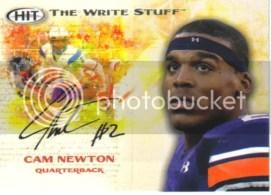 2011 Sage Cam Newton The Write Stuff RC