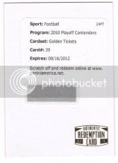 2010 Playoff Contenders Roger Staubach Golden Ticket