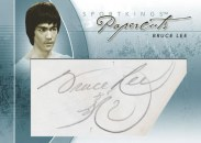 2010 SportKings Gum Bruce Lee Papercuts Cut Autograph Card