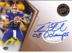 2010 Press Pass Tim Tebow 08 Champs Autograph