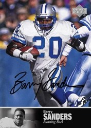 2008 Ultimate Collection 1997 Legends Auto Barry Sanders