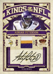 2010 Crown Royale Adrian Peterson Kings of the NFL Jersey Patch Auto