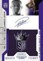 2010/11 Panini Contenders Patches DeMarcus Cousins Autograph Patch Rookie Ticket