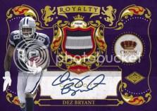 2010 Crown Royale Dez Bryant Rookie Royalty Autograph Auto