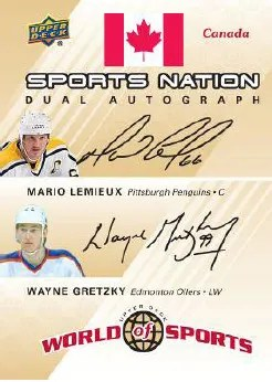 2010 World of Sports Lemieux/Gretzky Dual Autograph