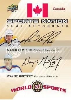 2010 World of Sports Lemieux/Gretzky Dual Autograph