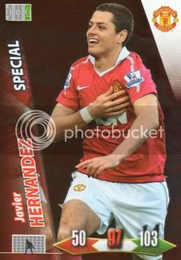 2010-11 Adrenalyn Manchester United Javier Hernandez Special
