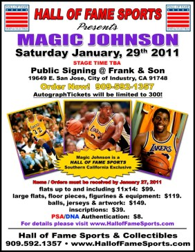 2011 Frank & Sons Magic Johnson Signing Card Show