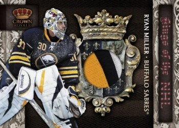 2010/11 Panini Crown Royale Ryan Miller Kings of the NHL Jersey Card