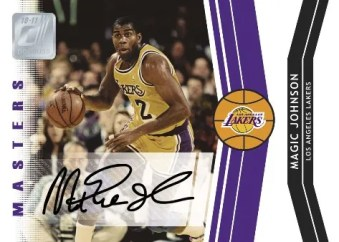 2010/11 Donruss Magic Johnson Masters Autograph Card