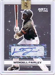 2008 Just Minors Wendell Fairley Autograph