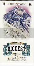 2010 Topps Allen & Ginter Worlds Biggest Mountain