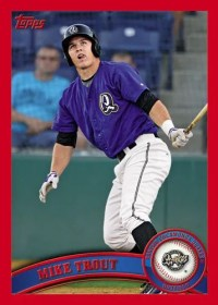 2011 Topps Pro Debut Mike Trout Red Parallel Base Card