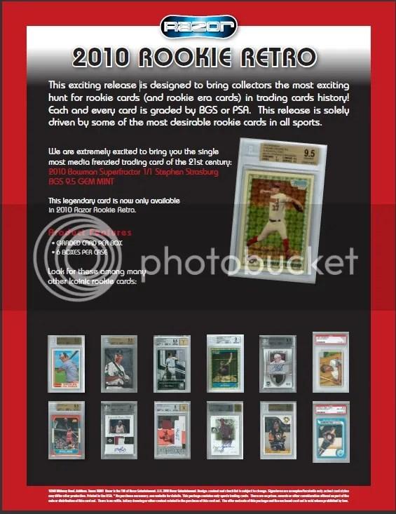 2010 Razor Rookie Retro Box Sell Sheet